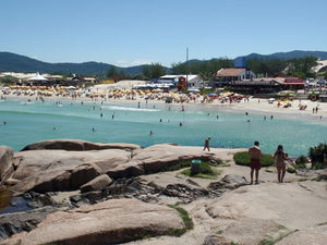 North end of Praia da Joaquina from rocks.jpg